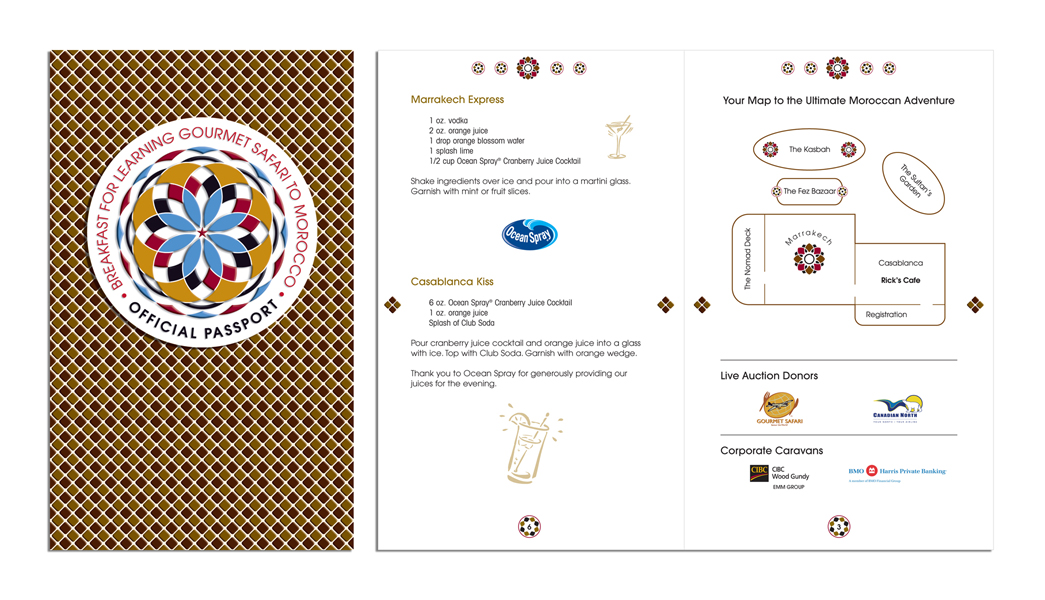 Gourmet Stations Passport for stamping