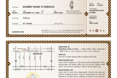 Gourmet Safari Boarding Pass