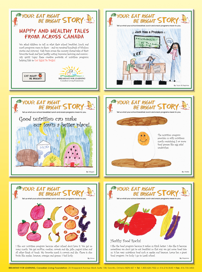 Breakfast For Learning - Poster Celebrating Kids Creativity