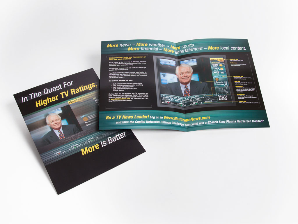 Multizone News US launch - brochure