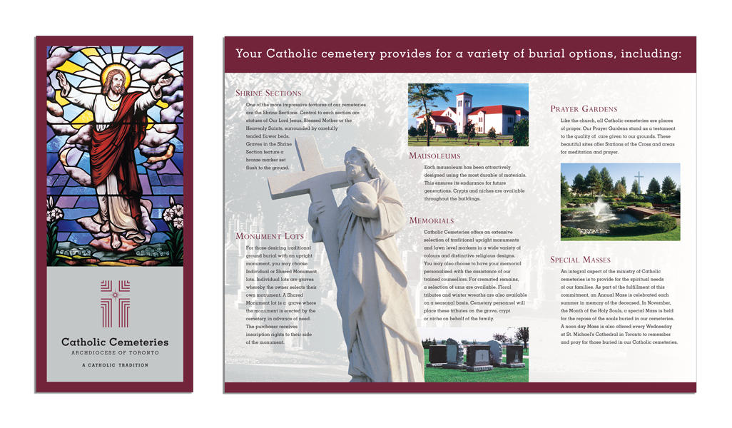 Catholic Cemeteries - Rebranded brochure
