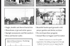 Catholic Cemeteries Newsprint Ad layout