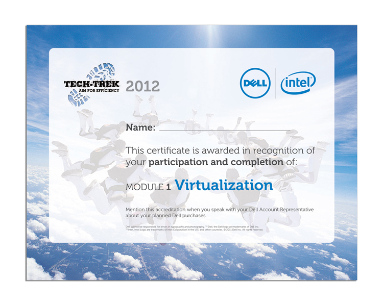 Tech-Trek Certificate on Completion
