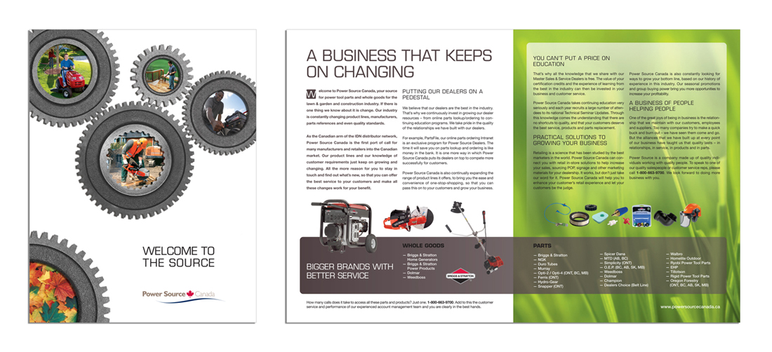 Parts Distributor Company Sales Brochure