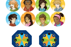 Game Avatars and Spinner Dice