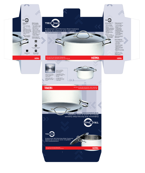 Concept: Box packaging design for Professional cookware line, S2