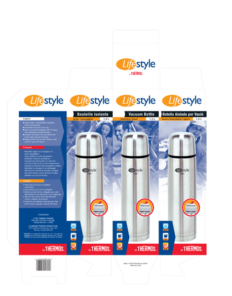 1L Thermos Vacuum Bottle Packaging
