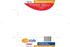 LifeStyle Mug Line label design