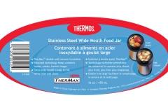 Wide-mouth food jar label sku 2310NB
